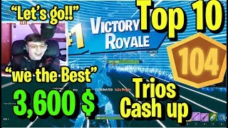 This Is How Clix Tfue & Sway Won 3,600$ With 104 Points & 1 Day of Practice - All Games Highlights