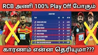 RCB அணி 100% Play Off - போகும் காரணம் என்ன தெரியுமா ??? | RCB Play Off | Kohli