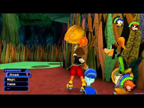 Kingdom Hearts HD -1.5 ReMIX- English - Kingdom Hearts Final Mix - Part 4 - Wonderland - Cards and Tower / Trickmaster