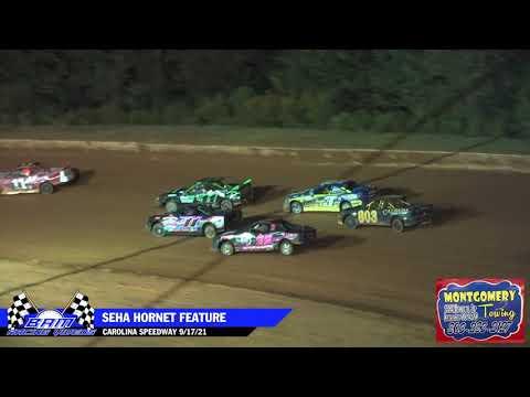 SEHA Hornet Feature - Carolina Speedway 9/17/21 - dirt track racing video image