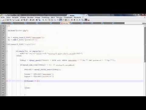 دورة PHP/MYSQL : الدرس 46 (درس تطبيقي :نظام تسجيل الدخول)