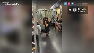 Woman taking selfies on subway shows you don't need an 'Instagram boyfriend'