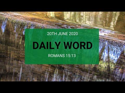 Daily Prophetic 20 June 2020 Romans 15 13