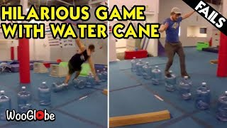 Insane Parkour With Water Cane Bottles