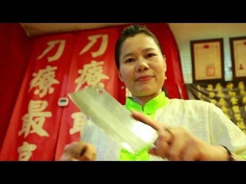 Mát xa bằng dao chặt thịt ở Đài Loan