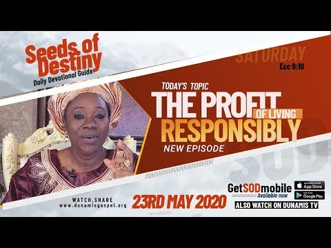 Dr Becky Paul-Enenche - SEEDS OF DESTINY  SATURDAY, 23 MAY, 2020