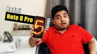 Redmi Note 8 Pro 📲 5 Things To Know 😱🔥