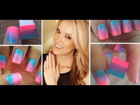 How To ♥ ONE Step Ombre Nails!!! - UCT27sjmi4NEYRBIRf-fmgow