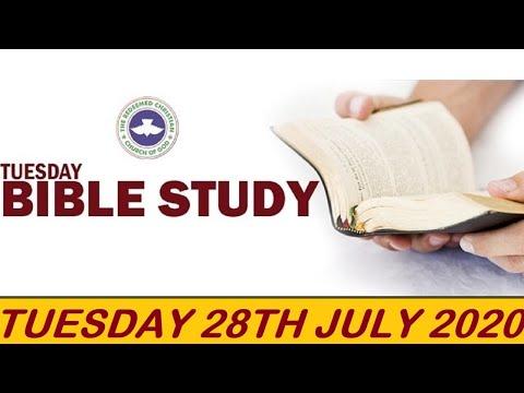 RCCG JULY 28TH 2020 BIBLE STUDY  PRIDE HUMILIATES AND HUMILITY ELEVATES