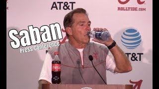 Nick Saban recaps Alabama's second scrimmage during fall camp