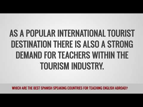 video about the best spanish-speaking countries for TEFL teachers