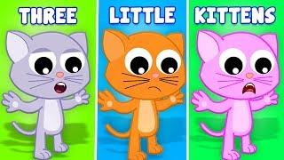 три маленькие котята | смешная песня котенка | русские котята песня | Three Little Kittens