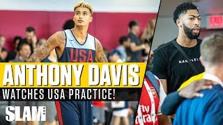 Anthony Davis watches USA Practice in Las Vegas!? 🇺🇸