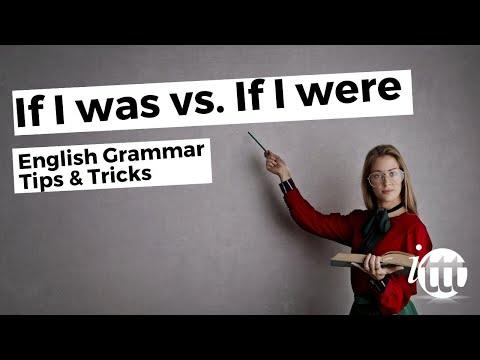 IF I WAS vs IF I WERE - English Grammar - Teaching Tips