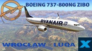 X PLANE 11- LIVE -  BOEING 737-800NG ZIBO RYANAIR WROCŁAW - LUQA -  VATSIM