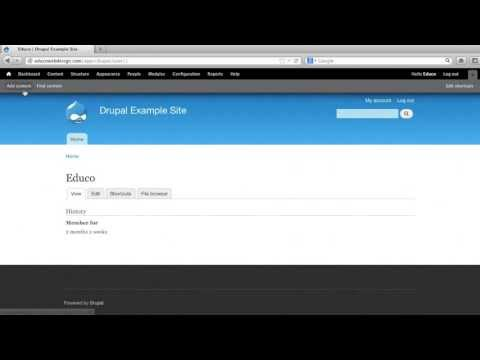 Drupal Tutorial - Introduction to the Drupal CMS by EDUCO Web Design