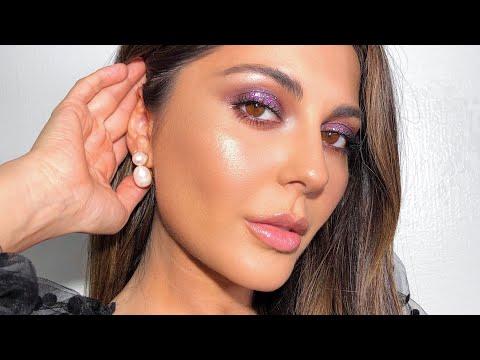 Purple Glitter Makeup + Testing Top Two Foundations - UCp1XyVkqPgcRvso3AY_e8iQ