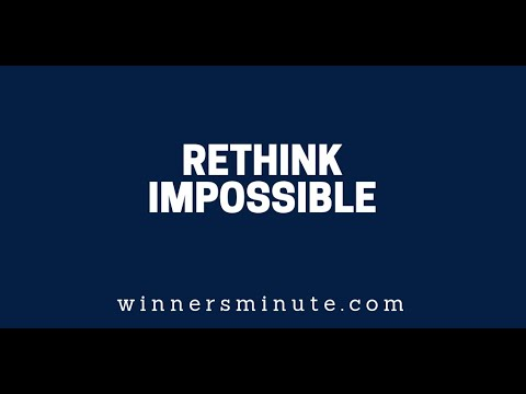Rethink Impossible  The Winner's Minute With Mac Hammond