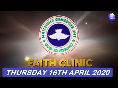 RCCG APRIL 16th 2020 FAITH CLINIC  HE SENT FORTH HIS WORD