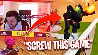 COURAGE RAGE QUITS FORTNITE LIVE ON STREAM! THE MECHS ARE INSANE! (Fortnite: Battle Royale)
