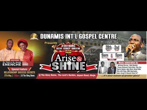 #DRC2019: (ARISE & SHINE) MORNING DEW SERVICE DAY 5 MORNING. 31-05-19
