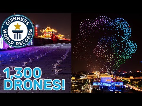 Drone display breaks world record title! - Guinness World Records - UCeSRjhfeeqIgr--AcP9qhyg