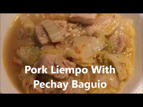 HOW TO COOK PORK LIEMPO WITH PECHAY BAGUIO