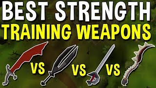What is the Best Weapon for Training Strength? [2019] Comparing the Most Popular Weapons! [OSRS]