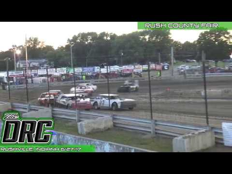 Rush County Fair | 6/27/17 | Pure Stocks | Feature - dirt track racing video image