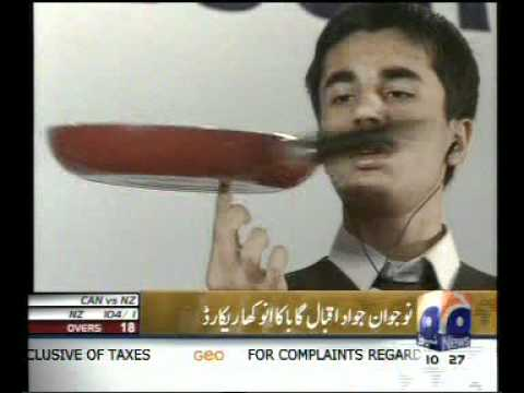 World Record by Pakistani Jawad Iqbal Gaba
