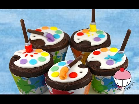 Artist Paint Palette Cupcakes - Back to School with Cupcake Addiction - UCxytOEPP99jj8mqVGAO7haQ