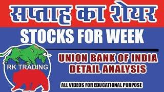 STOCKS FOR WEEK : UNION BANK OF INDIA STOCKS CHART ANALYSIS