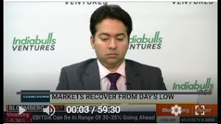 Mr. Manav Chopra (Head of Research) with Bloomberg Quint in the 'Countdown' show