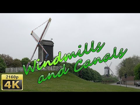 Windmills and Canals  in Bruges - Belgium 4K Travel Channel - UCqv3b5EIRz-ZqBzUeEH7BKQ