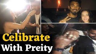 K L Rahul ने Preity Zinta और टीम के साथ मनाया जन्मदिन