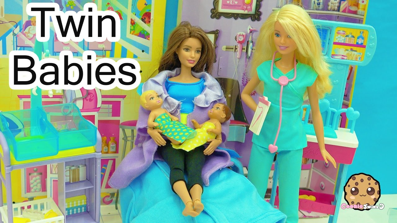 Dr Barbie Baby Doctor Twin Babies Medical Doll