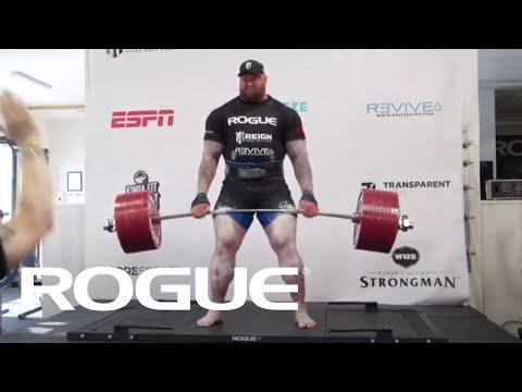 Хүчний өргөлт World record - 501KG Deadlift - Hafthor Bjornsson