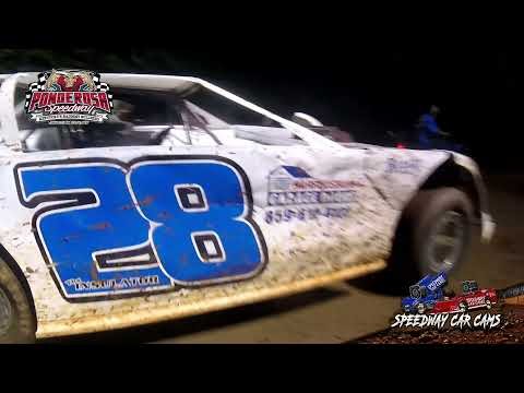 #28 Gary Yeager - Crate Late Model - 8-6-21 Ponderosa Speedway - In-Car Camera - dirt track racing video image