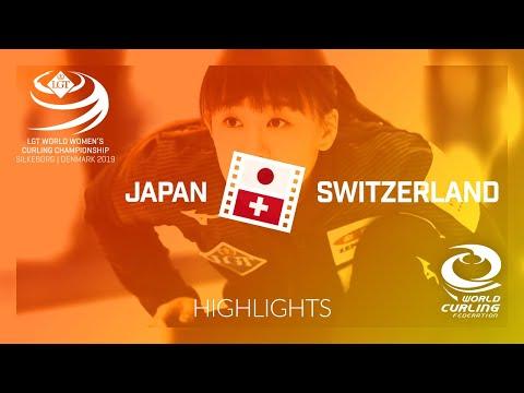 HIGHLIGHTS: Japan v Switzerland - round robin - LGT World Women's Curling Championship 2019