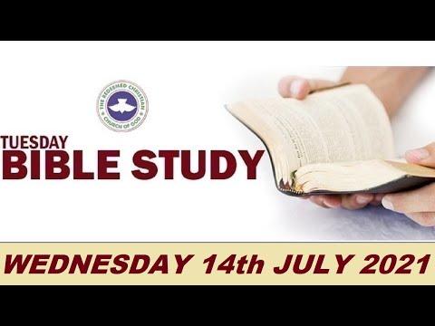 RCCG JULY 14th 2021 BIBLE STUDY