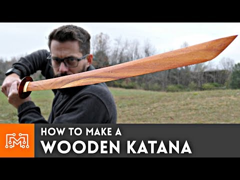 How to make a Wooden Katana from hardwood flooring // Woodworking - UC6x7GwJxuoABSosgVXDYtTw