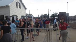 Fans entering AEW Fight for the Fallen at Daily's Place at TIAA Bank Field in Jacksonville (Fla.)