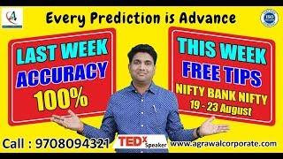 NIFTY BANK NIFTY NEXT WEEK ADVANCE PREDICTION(19 AUG -23 AUG) | Share Market | Technical Analysis