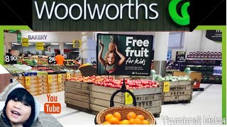 3 yrs. old buying his own milk & groceries at Woolworths!