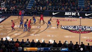 NBA LIVE 19 RJ Barrett vs Zion Williamson 2020 Rosters! Knicks vs Pelicans - PS4 PRO - HD