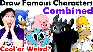 Famous Characters Mashup Fusions Reimagined Art Challenge | Art Makeover App by Mei Yu (Fun2draw)