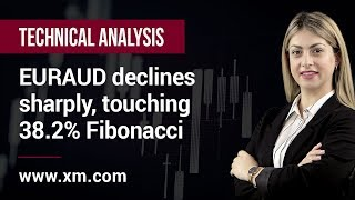 Technical Analysis: 15/07/2019 - EURAUD declines sharply, touching 38.2% Fibonacci