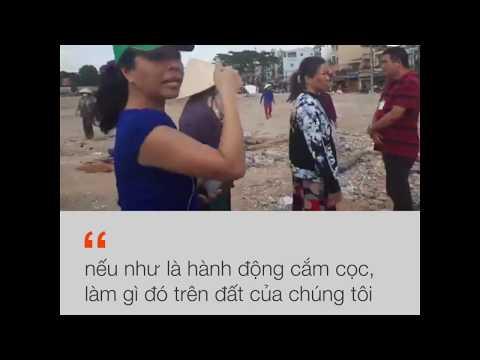 Hàng chục người dân Vườn rau Lộc Hưng phản đối cắm cọc phân lô