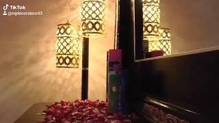 WEDDING BED DECORATION KARACHI BRIDAL ROOM DECORATION WITH ARTIFICIAL FLOWERS IN KARACHI