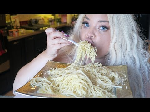 BUTTERED PASTA AND CHEESE MUKBANG! WATCH ME EAT | NOODLES EATING SHOW - UCF2oW5-MO8dB6ul9WH9xi0A